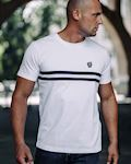 T-shirt Basic Stripes White