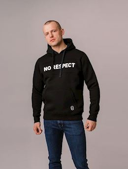 "Hoodie ""NO RESPECT"" Black"