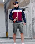 "Full Face Jacket ""Invader"" Navy/Red"