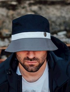 Bucket Hat Wanderer Navy/Grey