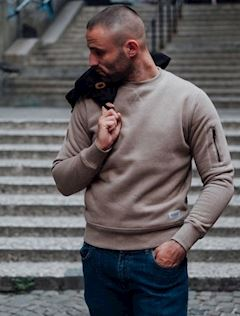 Sweatshirt Base Beige